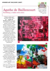 Discovery sheet wonder art - J'aime J'aime pas