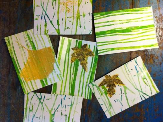 Printing on cards. Fall 2012 workshops.