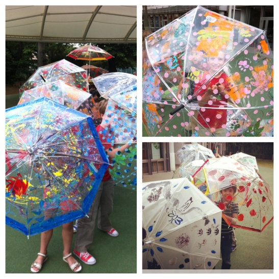 Printing and painting on umbrellas