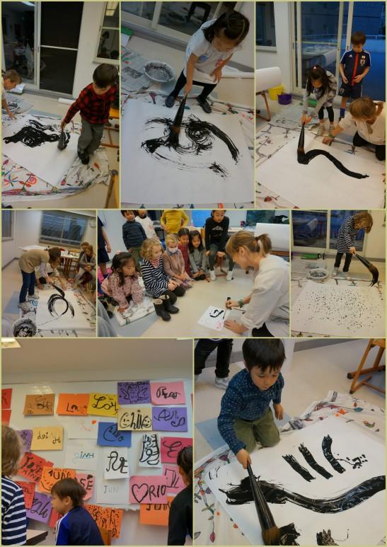 La danse du trait. Differents outils, differentes traces. Differents movements, diffentes impressions.