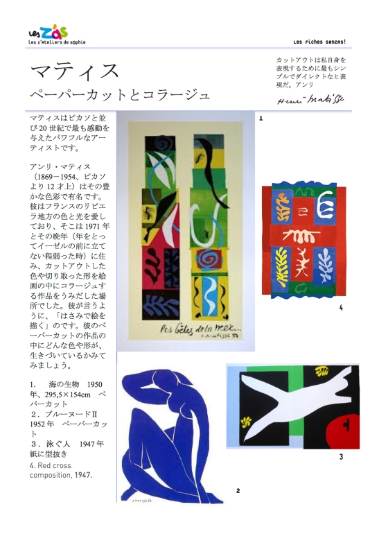 Our introduction to the Matisse workshop.