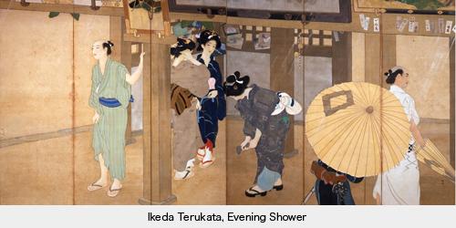 "Ikeda Terukata, ""Pluie du soir"", Yamatane museum, Tokyo"