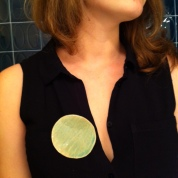 Ceramic pin by Zas Deco