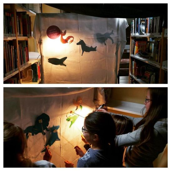 Shadow puppets at the Library (children's workshop)