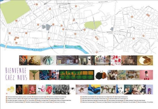 plan portes ouvertes ateliers d'artistes de champigny-sur-marne
